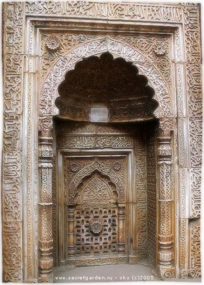 Остатки мечети в Кутб Минаре (Дели)