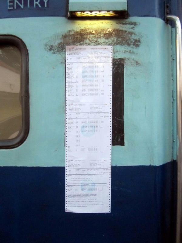 списки RAC пассажиров на вагоне