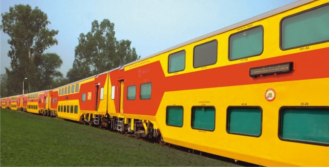 Double-decker trains of India