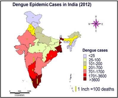 Денге в Индии