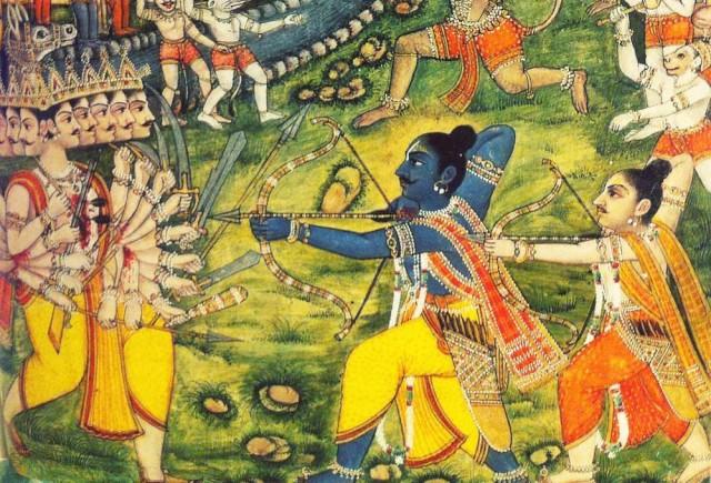 Рама сражается с Раваной