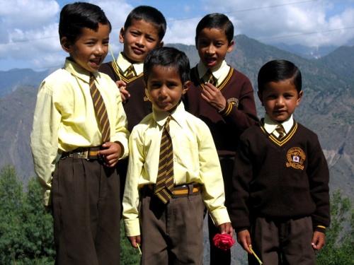 Школьники из Рангори