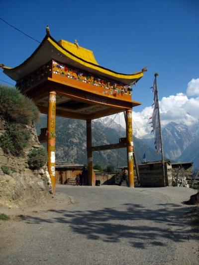Буддистские ворота в Панги