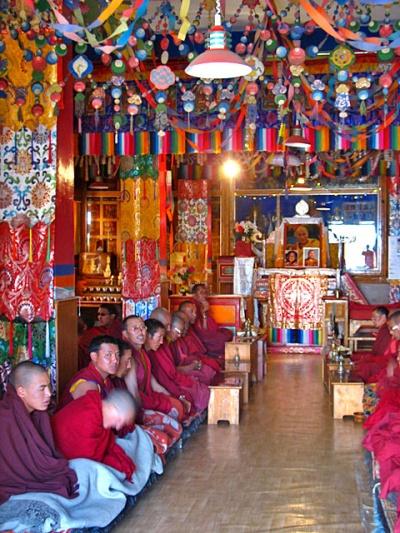 Молитва богине Таре. Храм монастыря Ки