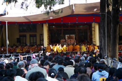 На лекции Далай-ламы