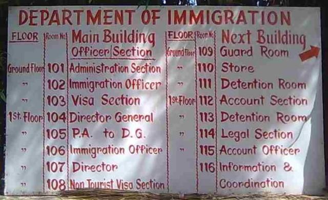 Расположение кабинетов иммиграционной службы Непала