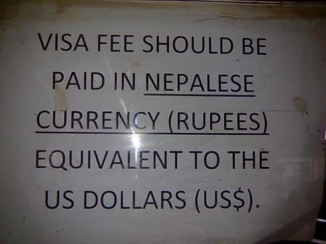 Правила оплатиы непальской визы