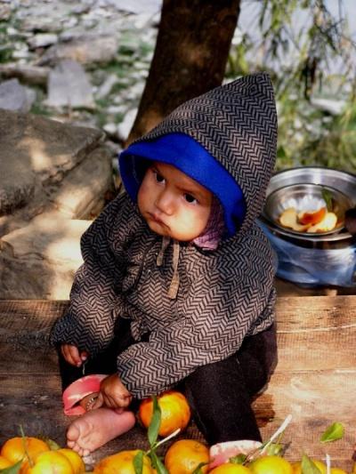 торговец мандаринами