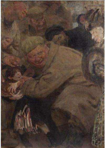 """""""Русские отнимают хлеб у таксистов Гоа"""". И. Репин. 1918"""