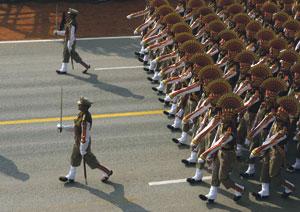 В Дели проходят репетиции парада по случаю Национального праздника Индии