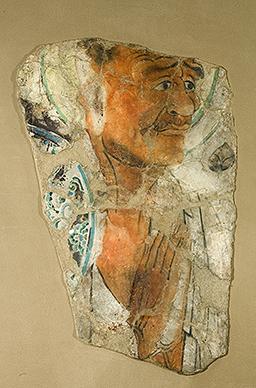 Монах. Стенная роспись, VIII век.