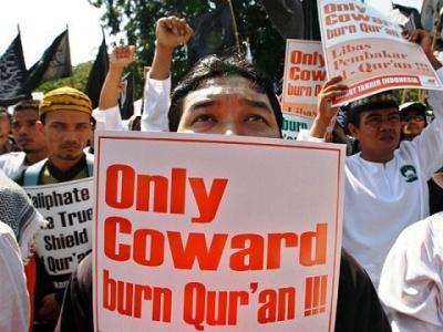 Quran burn protest