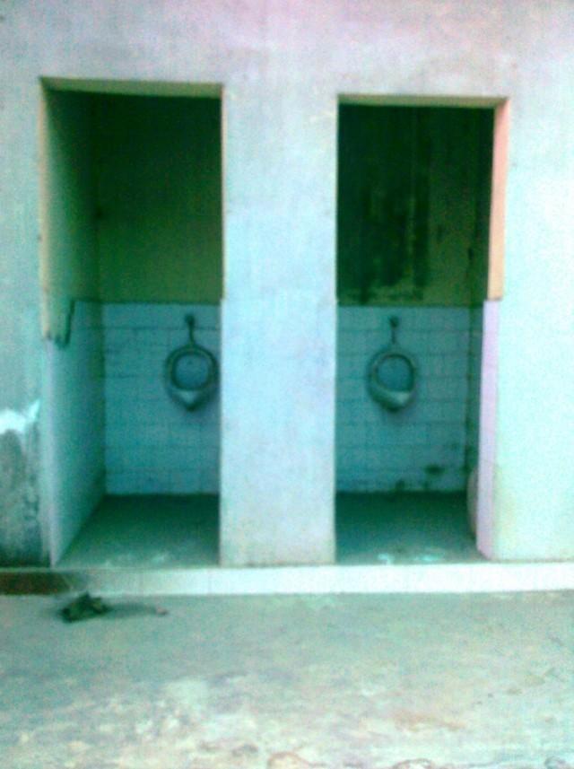 """Слева """"М"""", справа """"Ж"""" (туалет у нас на станции))"""