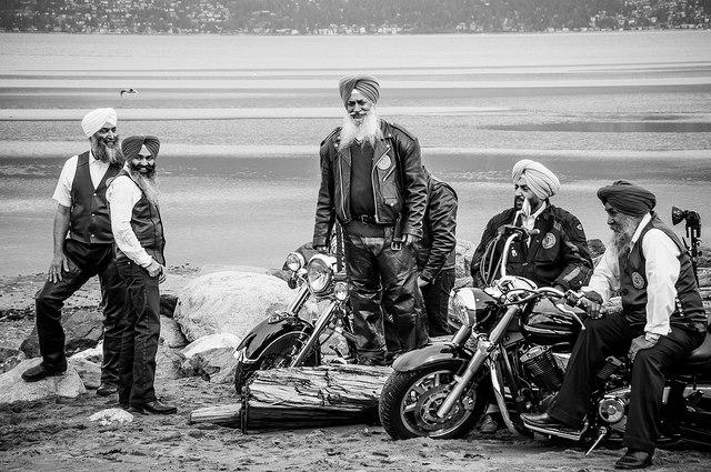 Sikh bikers