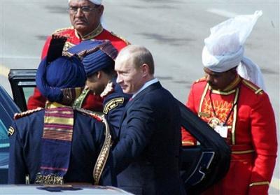 Путин на Дне Республики в Индии