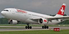 Самолет авиакомпании SWISS
