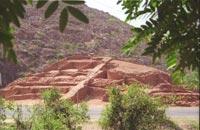 На месте раскопок ступы в Бихаре