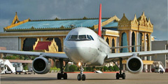 Самолет в аэропорту Янгона