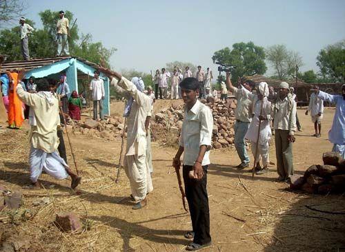 Протестующие гуджары Бхаратпур