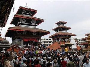 Церемония избрания кумари в Непале.
