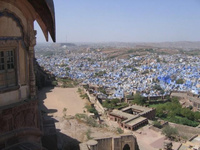 "Вид на Джодхпур - ""голубой город"" - из крепости"