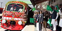 В Кашмире торжественно открыли новую железнодорожную линию