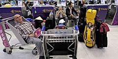 Туристам пришлось сутками сидеть в аэропорту
