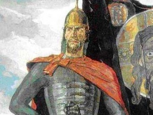 "Картина Павла Корина ""Святой князь Александр Невский""."