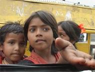 Индия. Дети-попрошайки