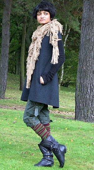 Этот шарф для Шины связала знакомая нью-йорская модельерша.