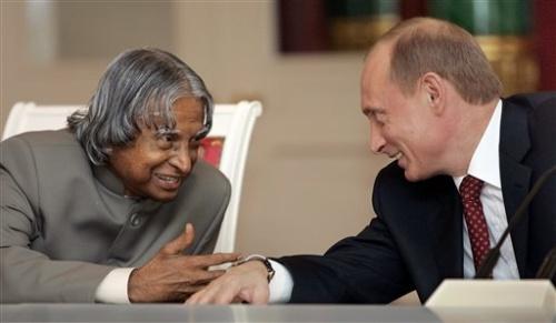 Владимир Пути и Президент Индии Абдул Калам