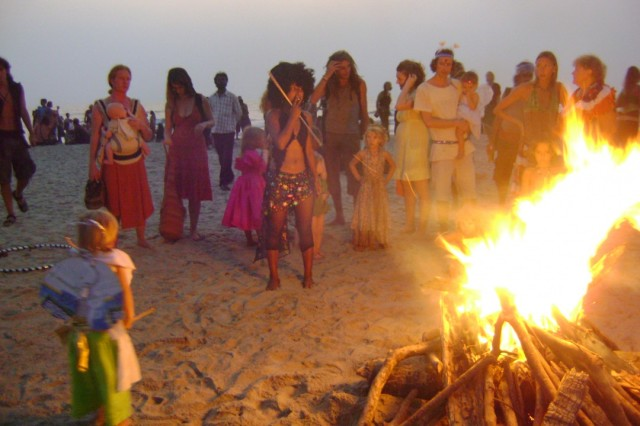 традиционный костер карнавала