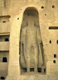 Разрушенная статуя Будды в Афганистане