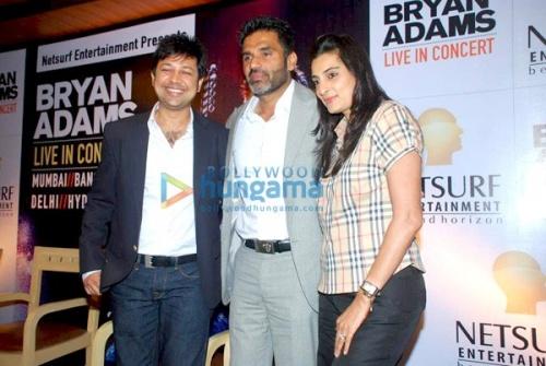 Сунил и Мана Шетти, фотка со вчерашней пресс-конференции