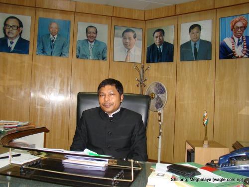 Мукул Сангма - главный министр штата