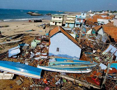 Последствия цунами в Индии