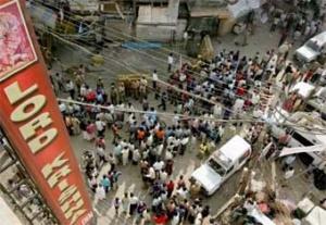 На месте теракта в Дели