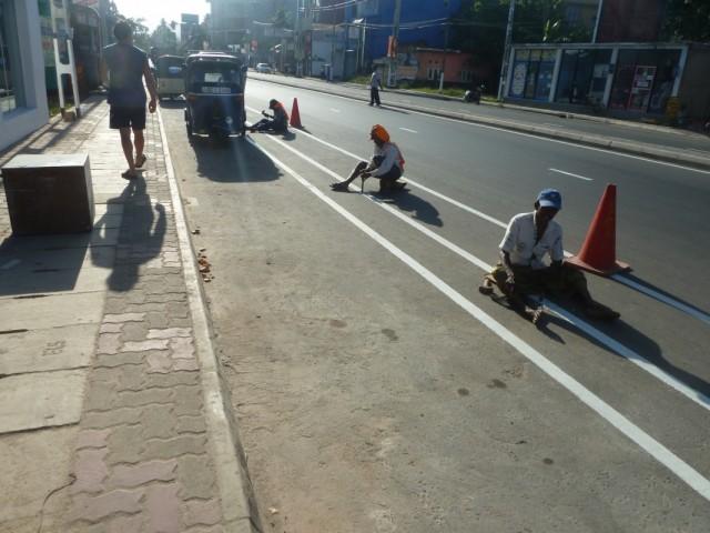 дорожные рабочие в Матаре